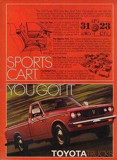 1978 Toyota SR-5 Pick-Up truck vintage pickup photo ad