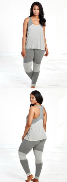Let this tank and legging set be your guide to the couch, the bed or wherever your day takes you.