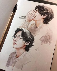 Discover recipes, home ideas, style inspiration and other ideas to try. Fanart Bts, Taehyung Fanart, Bts Taehyung, Jhope, Kpop Drawings, Wow Art, Bts Photo, Cute Photos, Beautiful Pictures