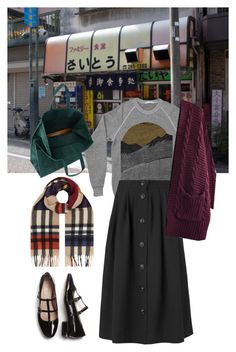 """Heh"" by pallo ❤ liked on Polyvore featuring Burberry, Maison Margiela and Jaeger"