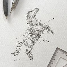 ▷ 1001 + ideas and inspirations for beautiful pictures to paint! - nice pictures to paint, black-gray drawing, horse drawing, geometric motifs, arrows - Geometric Designs, Geometric Shapes, Animal Drawings, Art Drawings, Blog Art, Tattoos Geometric, Animal Tattoos, Pictures To Paint, Drawing People