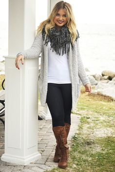 The Fire Inside Cardigan: Heather Gray #shophopes