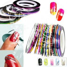 (10 different colors) to decorate your nails. Size(about):approx:4.4cm (Diameter), thickness:0.1cm Material:Self-adhesive Self-adhesive, no glue is needed, clea