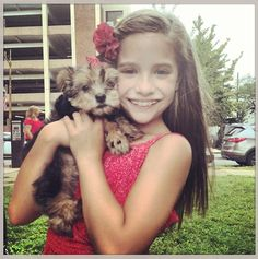 Kenzie & cute dog