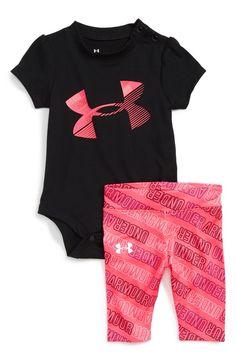 c9502dd95fc38 Under Armour Logo Bodysuit   Leggings Set (Baby Girls) Cute Outfits For  Kids