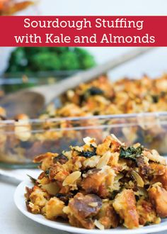 Sourdough Stuffing with Kale, Almonds + Grand Marnier Apricots recipe Apricot Recipes, Almond Recipes, Vegetarian Recipes, Healthy Recipes, Dinner Entrees, Dinner Recipes, Grand Marnier, Grass Fed Butter, Vegan Thanksgiving