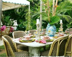 Fabulous outdoor dining - love the chairs