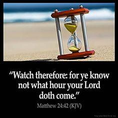 Inspirational Image for Matthew 24:42