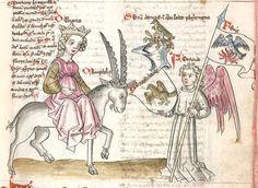 Speculum humanae salvationis. Memento mori-Texte [u.a.] Bayern - Österreich, I: zwischen ca. 1440 - 1466, II: um Mitte 15. Jh., III: 2. Viertel 15. Jh. Cgm 3974  Folio 83