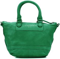 Arielle C Green Vintage Leather -- Available in 7 colors!  Large handbags are the trend this spring and summer and we've added a new twist with the super cool trapezoidal-shaped Arielle C handbag. This great look is reinforced by the material contrast of rugged nylon fabric and fine leather making it the perfect complement to mini skirts, ankle jeans and patterned blouses.