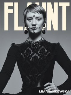 Mia Wasikowska graces the latest cover of Flaunt Magazine, Photographed by Carlos Serrao.