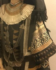 Details from traditional costume. Ethnological Museum of Thrace, Alexandroupolis, Greece. Thasos, Folk Clothing, Folk Costume, Anthropology, All About Fashion, Traditional Outfits, Folk Art, Kimono Top, Pure Products