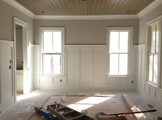 i like this wainscoting for the piano roomentry way
