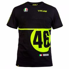 2016 big 46 Logo  Motorcycle casual T-shirt Valentino Rossi VR46 Moto GP Monza Cotton T-shirt
