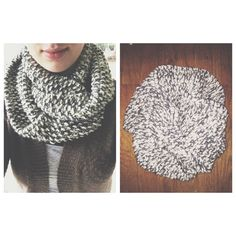 Henley  white and gray infinity scarf by SeedyKnits on Etsy