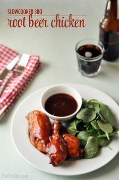 slow cooker bbq root beer chicken