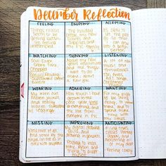 I'm a few days early, but I figured not too much can change in two days I loved this reflection last month and decided to do it again! I hope you guys like it too! #bulletjournal #monthly Monthly Review month spread monthly reflection december