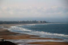 Looking across Saltburn beach to Redcar