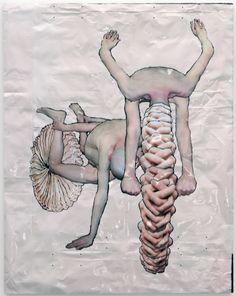 Tim Hawkinson, Pink Bike, 2010 Inkjet prints and urethane foam on panel
