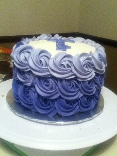 Purple Ombre smash cake - would love it in pink!