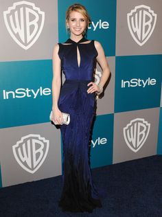 Emma Roberts in Zac Posen. Love the cut of this gown!