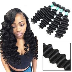 3/4 Bundles With Closure Bright Alipearl Hair 100% Human Hair Water Wave Bundles With Frontal Brazilian Hair Weave 3 Bundles Remy Hair Extensions Natural Color Human Hair Weaves