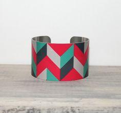 Parker Metal Cuff Bracelet by PeaceLoveBeach on Etsy