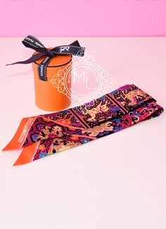 Hermes Collections Imperiales Black Fuchsia Twilly - NEW $180