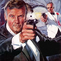 James Bond 007 Artwork  Where's the The Saint artwork? No wonder Roger Moore left the gig.