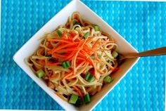 Easy Thai Chicken Noodle Bowls - one of my favorite 15 min. meals to make
