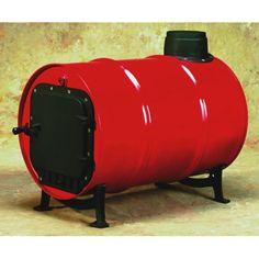 Barrel wood heat stove kit from Lehmans Homestead Survival, Survival Prepping, Emergency Preparedness, Survival Skills, Emergency Preparation, Doomsday Survival, Survival Stuff, Barrel Stove, Steel Barrel
