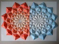 Japanese paper engineer Kota Hiratsuka has been creating beautifully complex origami mosaics that rely on cut and folded geometric patterns. He plans to sell the various templates as downloadable PDFs through his website ...though not just yet, so stay tuned. See many more of his wor