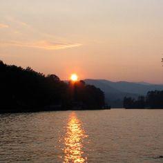 Sunset on Lake Burton, Rabun County, Georgia