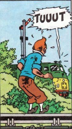 Tintin, Hergé and trains
