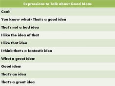 Forum | Learn English | Expressions to Talk about Good Ideas | Fluent Land