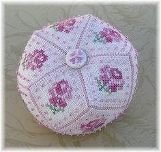 15 Sides Rose Biscornu Top, Pattern for sale