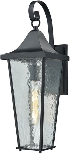 Save on Elk Lighting Vinton 1-Light Outdoor Wall Light Matte Black 87060/1 870601