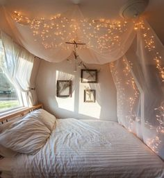 Bedroom Decoration Trends with Fairy Light : Butterfly Fairy Lights for Bedroom