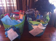 Simply Inspired: Handmade Crafts: College Survival Gift Basket
