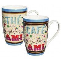 2 Mugs TON AMI Natives déco rétro vintage