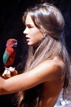 Young Brooke Shields in Blue Lagoon, 1980