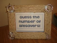 AHOY It's a Boy baby shower game frame