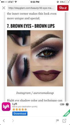 Makeup for a deep purple dress