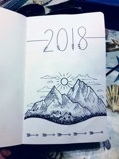 The front page from my 2018 bullet journal :)