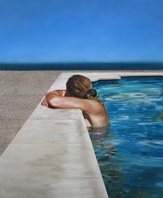 "Eric Zener: ""Blue gaze"", 66""x54"", oil on canvas, 2006... I so thought this was a photo not a painting! Looks so real!"