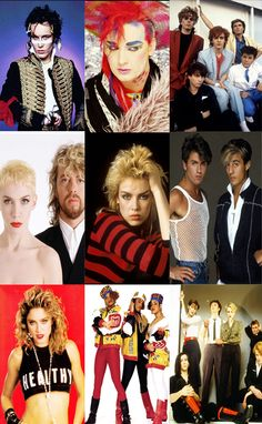80s Party Decoration - 10 x A4 80s Pop Stars and Bands Posters