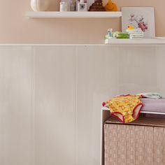 Revestimiento para pared de PVC ATTITUDE BLANCO BRILLANTE