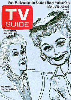Lucille Ball and Vivian Vance TV Guide