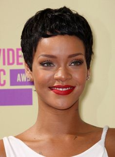 celeb short hair styles 20 great hairstyles for black with 3006 | 8fbf1d4b777923dddc7c46b3006daf10 rihanna short hairstyles hairstyles for black women