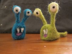 Little Felted Creatures by kbirchtree on Etsy, $8.00